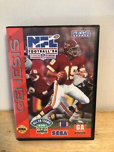 NFL-Football-039-94-Starring-Joe-Montana-Sega-Genesis-1993-CIB-Complete-Tested