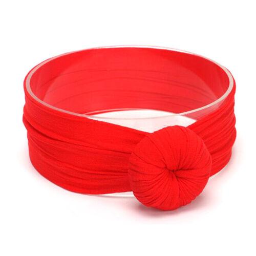 1Pc Baby Girls Kids Toddler Round Knot Hairband Headband Stretch Cloth Head Wrap