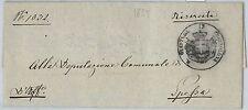 64027  ITALIA REGNO - STORIA POSTALE : BUSTA da in franchigia da CORTEOLONA 1859
