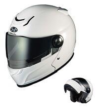 OGK KABUTO AFFID WHITE Metallic XL Helmet Japanese Model