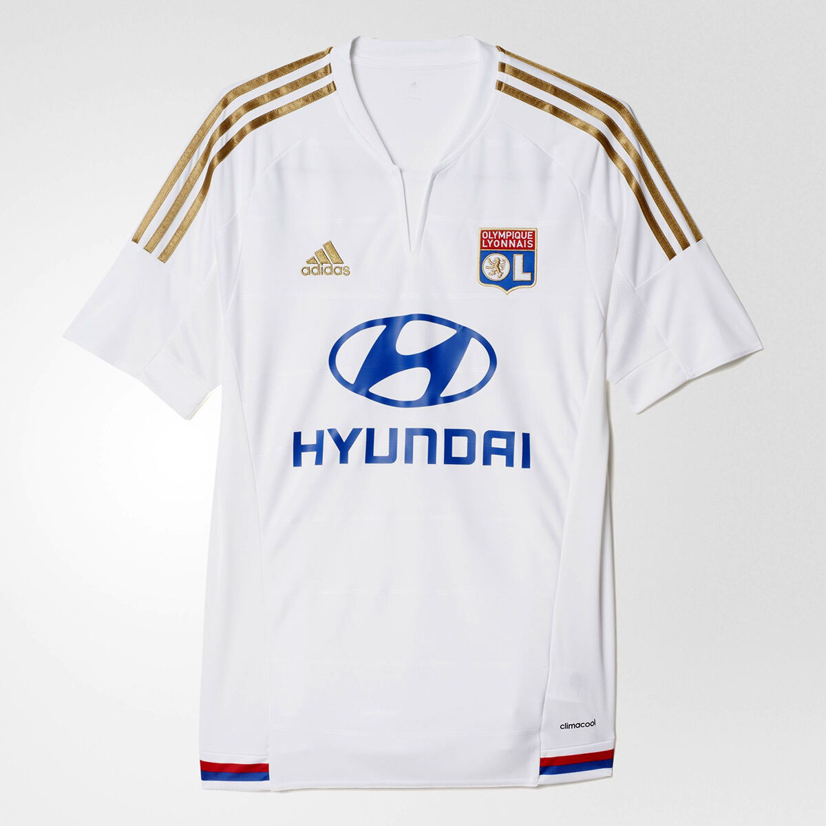 Adidas Olympique Lyon Second Home Jersey men Weiß Blau Gold rot AA3113