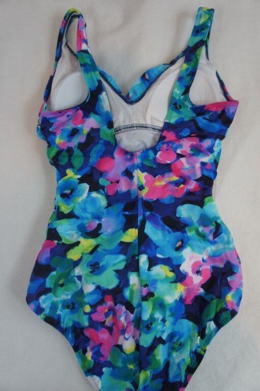 INC International Concepts One One One Piece Sz 20W bluee Multi Swimsuit Swimwear 470804W 488b65