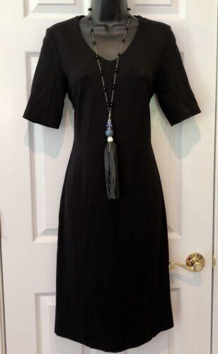 Cabi Claire Black Sheath Dress Size 2 ponte stretc