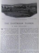 Dartmoor Farmer Moretonhampsted Belliver Beardown Chagford Rare Old Article 1905