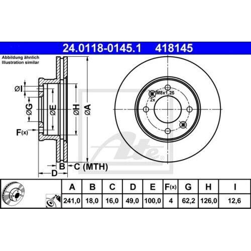 2x Disque De Frein Frein nouveau UAT 24.0118-0145.1