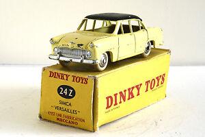 Dinky Toys Original - Simca Versailles 24c Jaune/noir Be (boîte A)