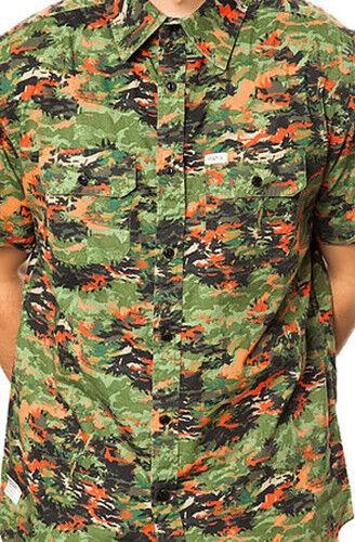 MATIX Aloha Camo Woven Shirt (L) Army