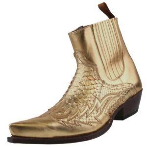 Herrenstiefel Details Leder Zu Python Gold Stiefel Sendra Herren Schuhe Stiefelette Boots Ygf6yb7