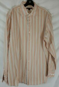 Banana-Republic-Homme-Xl-Manches-Longues-Boutonne-Chemise-rayee