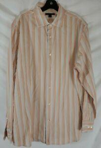Banana-Republic-Men-039-s-XL-Long-Sleeve-Button-Up-Striped-Shirt