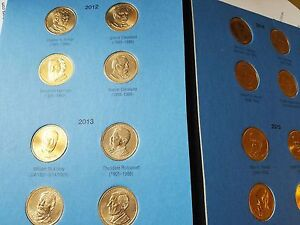 Volume 2 Complete Set P/&D 2012-2016 Presidential $1 Golden Dollar BU 38 Coins