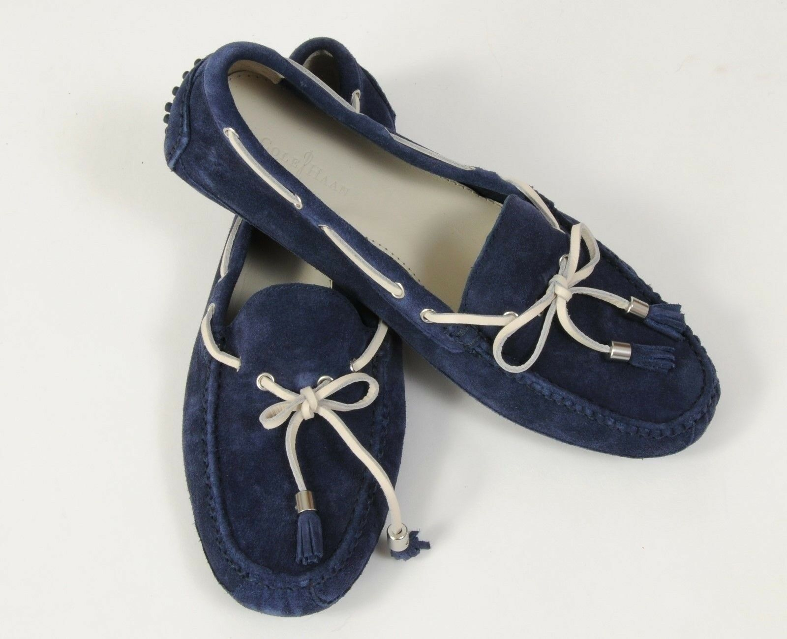 New Cole Haan Schuhes Grant Driving Loafers Boat Größe 8.5 Blau Suede Moccasins