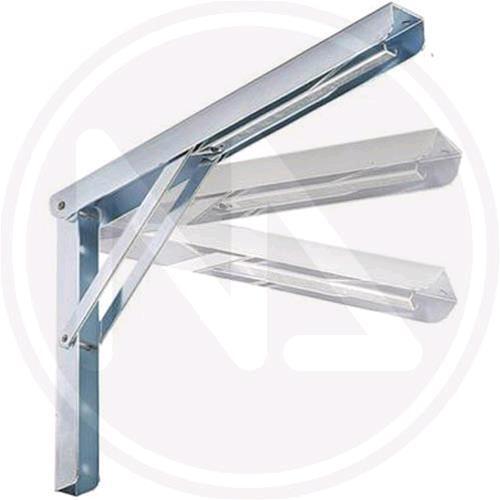 MENSOLA RIBALTABILE MAURER 40 cm con 3 POSIZIONI in acciaio Zincato 2 pz
