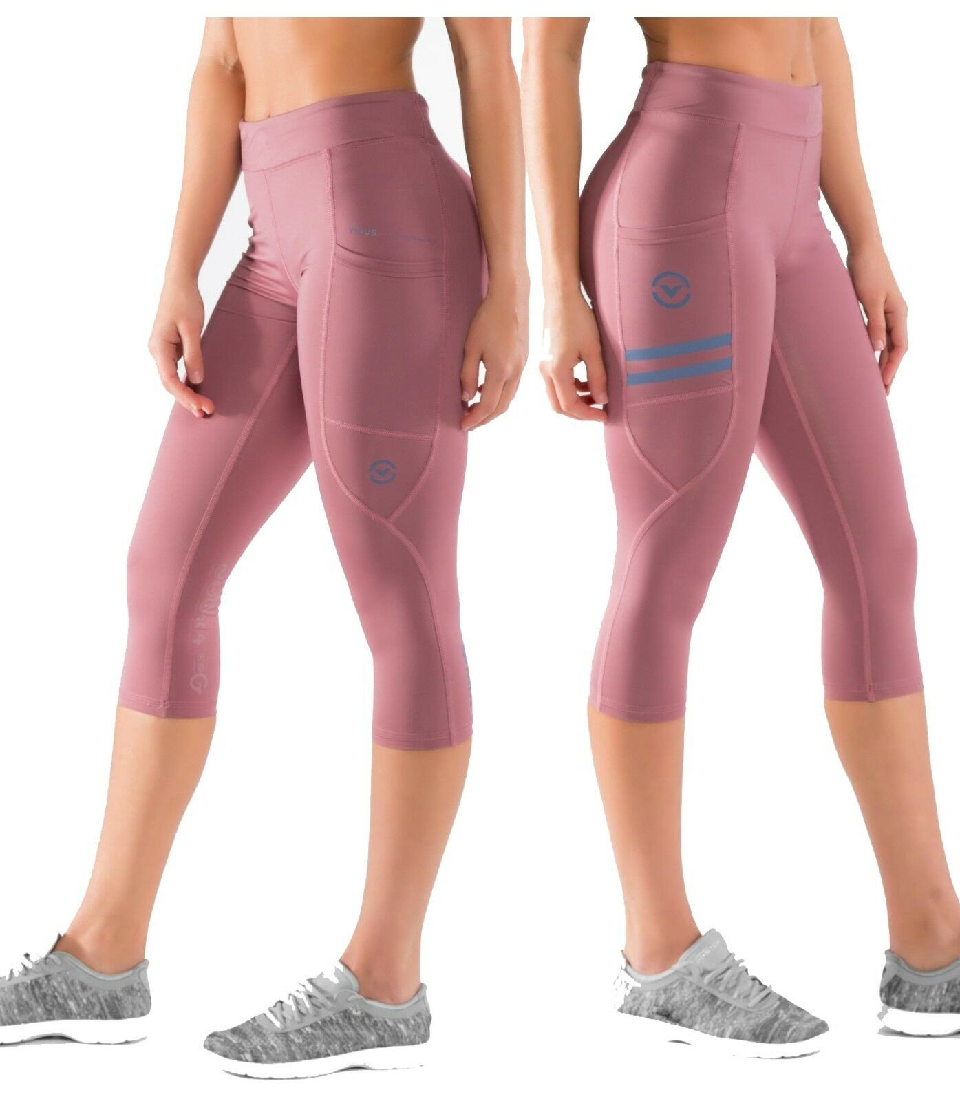 Virus DASie Eco24 Power Tech Schnitt Hose Indigo Braun Crossfit, Yoga,