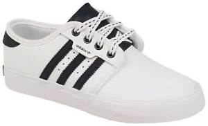 the best attitude 0941d 9ae19 Image is loading Adidas-Kid-039-s-Seeley-Shoe-White-Collegiate-