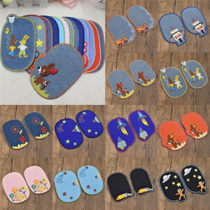 Details zu Kleidungdeko Nähen Aufnäher Kind Junge Knie Patch Süß Jeans DIY  Basteln Flicken