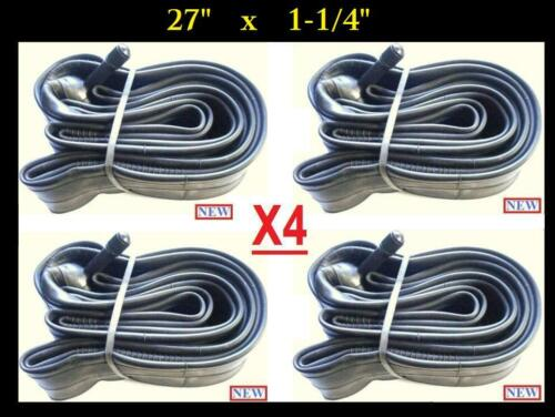 """4x Bicycle 27/"""" inch Bike Cycle Inner Tube 27/"""" x 1-1//4/""""  FREE Shipping USA Seller"""