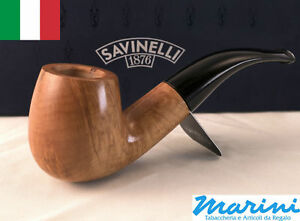 Smoking-pipes-pipe-Savinelli-616-KS-curve-briar-natural-waxed-wood-made-in-Italy