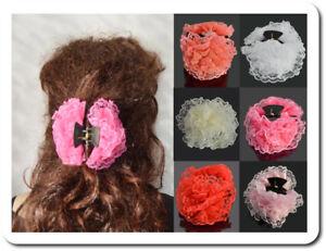 Selbstlos Haarkrebs 10-11 Cm Spitze Stoff Haarspange Haarklammer Haar Klammer Paris 6 Farb KöStlich Im Geschmack Damen-accessoires