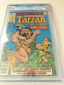 Vintage-Tarzan-1-Lord-of-the-Jungle-comic-Marvel-1977-CGC-9-6-NM-Burroughs