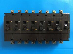 CRABTREE C50 SINGLE POLE MCB 5A 7.5A 10A 15A 30A 40A 50A 60A BROWN BAKELITE