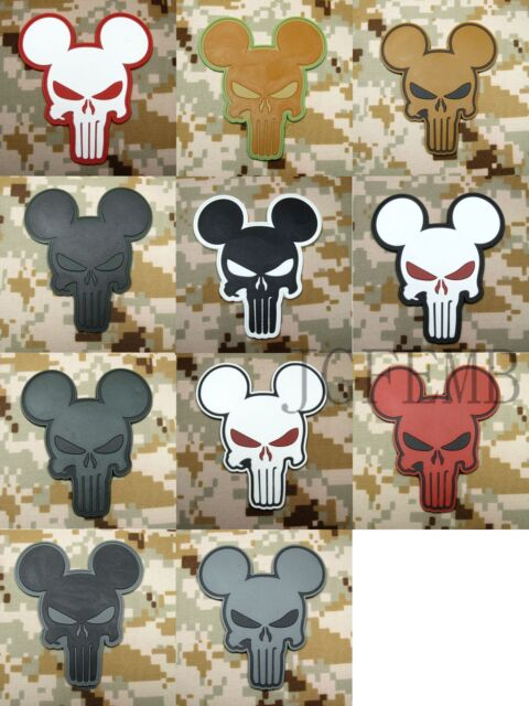 The punisher Mickey Military Tactical Morale Airsoft 3D PVC Patch