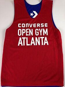 Converse-Open-Gym-Atlanta-Basketball-Jersey-Mens-Small-Red-Blue-Sleeveless-Tank