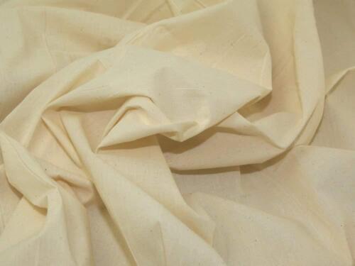 environ 137.16 cm poids moyen Calicot 100/% Coton Naturel Craft Tissu Largeur 54 in