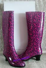 New From SAKS $225 MARC JACOBS 9/39 Made In Italy Multi-Heart Rain Boots Shoes