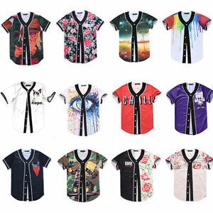 Facts Floral 3D Print Baseball Men Women Streetwear Jersey T-Shirt Sport Top Tee