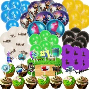 Details About Fortnite Globos De Aluminio Latex Decoraciones Para Cumpleaños Fiestas Niños Set