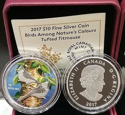 Nuthatch 2017 $10 Fine Silver Coin Birds Amoung Nature/'s Colours
