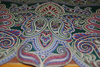 Lot Of 2 Multi-colored Rainbow Paisley Shaped Floral Wallpaper Borders [w1130]