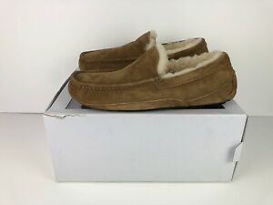 UGG-Australia-Ascot-Moccasin-Luxury-Suede-Slippers-Loafers-CHESTNUT-BROWN-UK-7