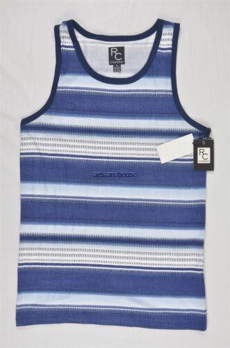 NEW MEN/'S RON CHERESKIN JEM OMBRE STRIPED TANK BLUE TOP TEE SZ L $18 #35-42456