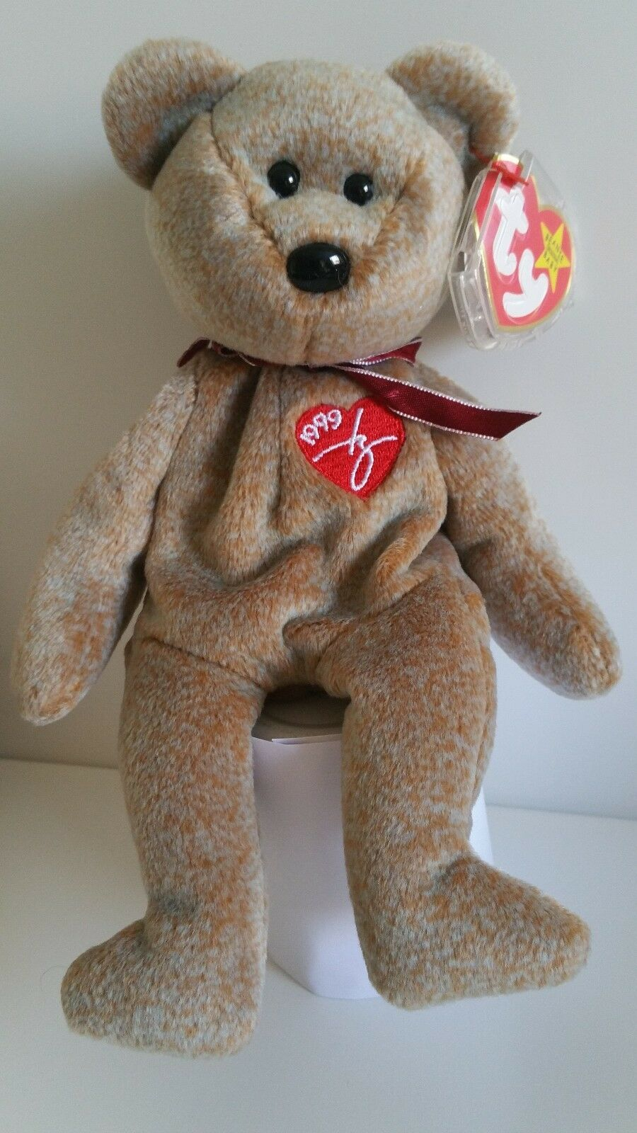 Signature 1999  Bear Ty Beanie Baby - Rare Retired BB Bear 02 Sign 99