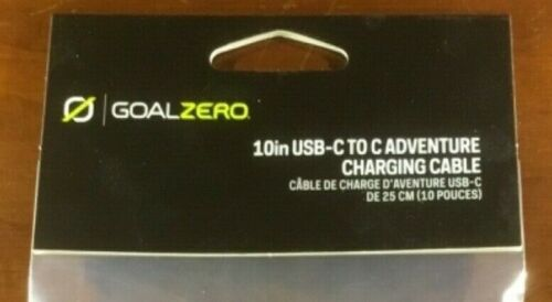 GOAL ZERO USB-C to USB-C Connector Cable 10 Inch #82013 Fast Shipping