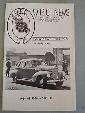 W.P.C.NEWS - Magazine June 1973 - Walter P Chrysler Club - 1939 De Soto Model S6