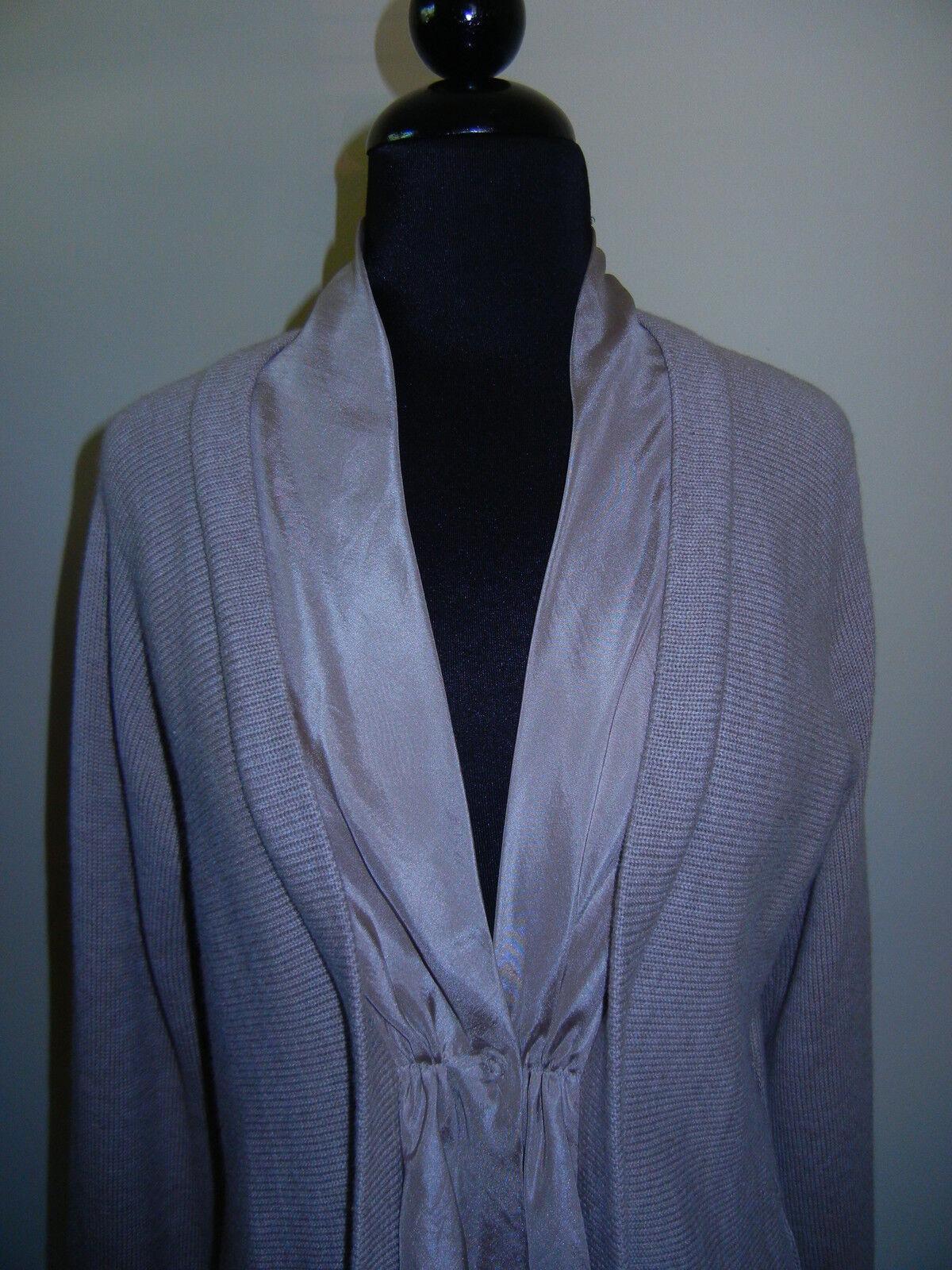 RIVAMONTE Cardigan Sweater Taupe - Perfect -  NWOT Sz   L