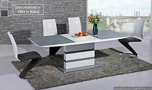 Image Is Loading Extendable Grey Gl Top Amp White Gloss Dining