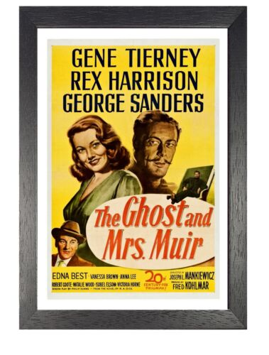 The Ghost And Mrs Muir Movie Retro Poster Romantic Film Photo Tierney Harrison