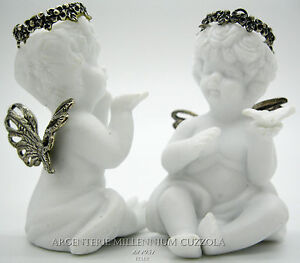 ANGELI-BOMBONIERE-CERAMICA-PORCELLANA-BISQUIT-ARGENTO-ANGES-REGALO-ANGIOLETTI