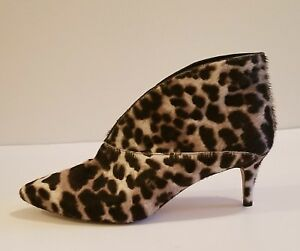 853c2867933 NWOB Boden Alexis Women s Snow leopard Mid heel Ankle Boots Grey sz ...