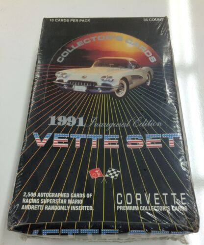 1991 Corvette Car Trading Card Factory Box 36 packs