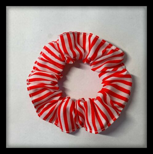 Hair Scrunchies USA Flag Patriotic Fabric Elastic Band Ponytail Tie Red 4TH July