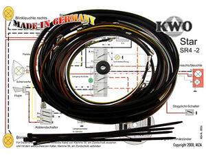 simson kabelbaumset sr4 2 inkl schaltplan 6v kwo moped. Black Bedroom Furniture Sets. Home Design Ideas