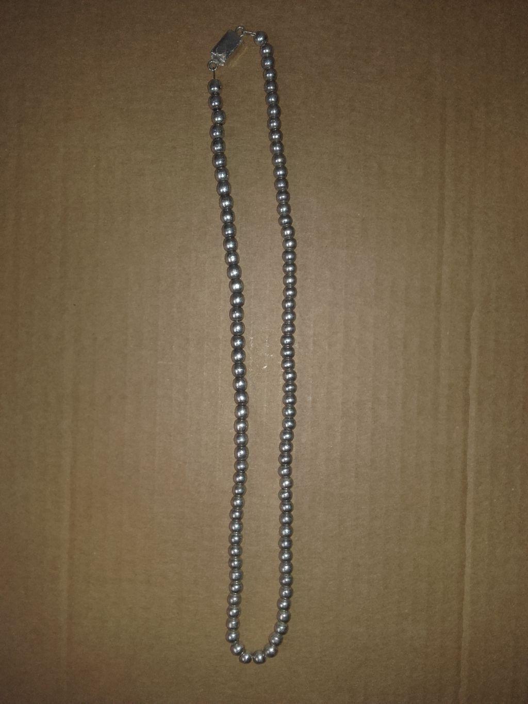 Cadena collar de bolas de argento argento argento unisex da3957