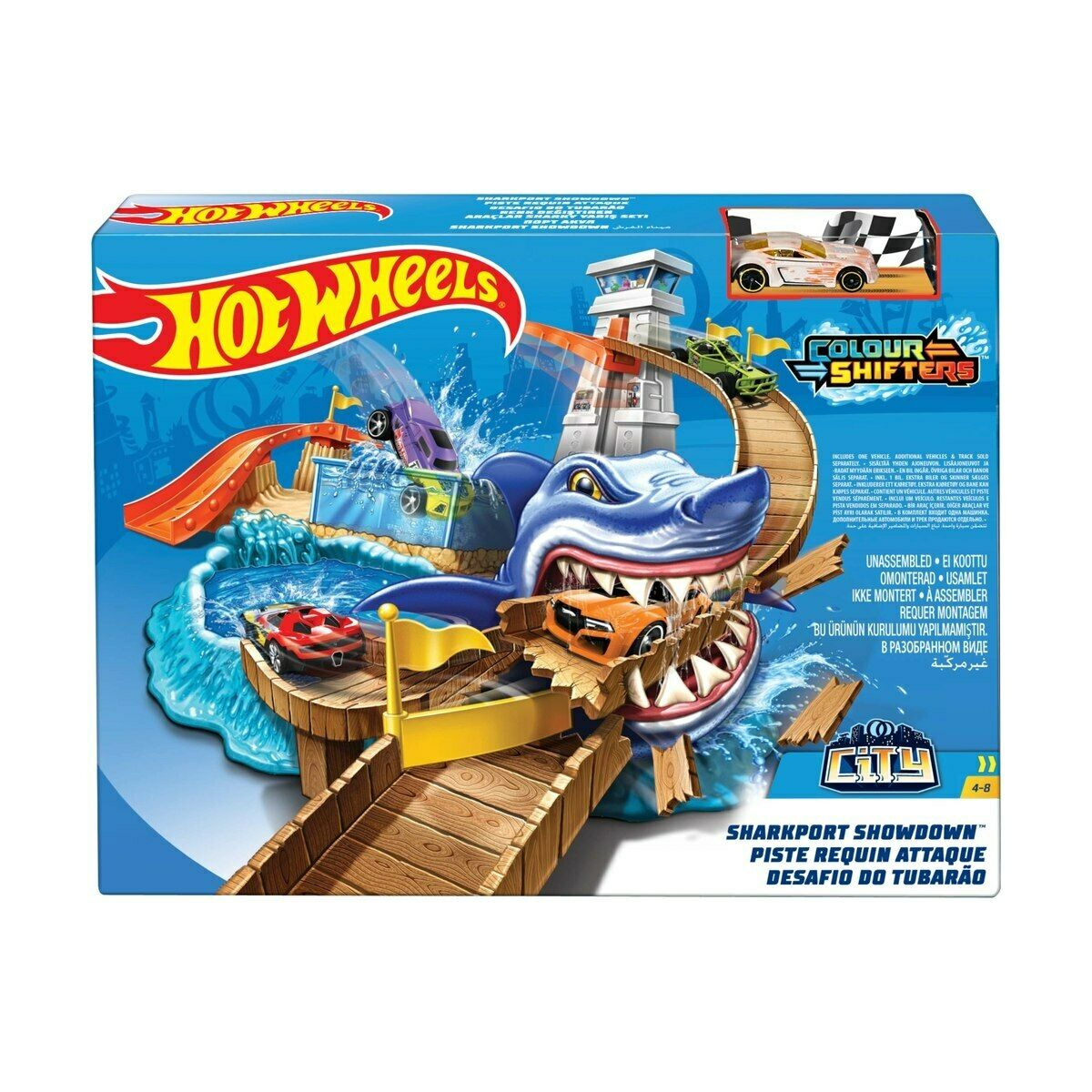 NEW Hot Wheels Colour Shifters Sharkport Showdown Vehicle Playset Birthday Gift