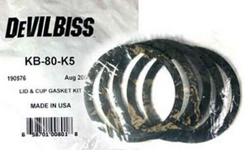 DeVilbiss KB80K5 Lid /& Cup Gasket