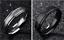 Anello-In-Acciaio-Unisex-Uomo-Donna-Numeri-Romani-Argento-Oro-Nero-Fedina-Fede miniatura 5